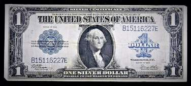 1923 Large Size $1 Silver Certificate VF/ EF Last of