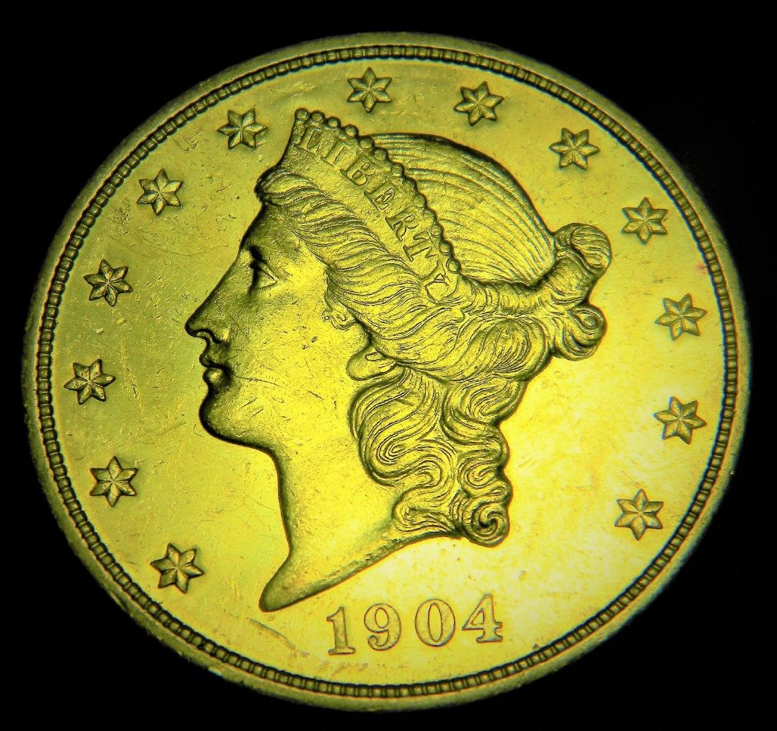 1904 Choice Uncirculated Liberty $20 gold Double Eagle