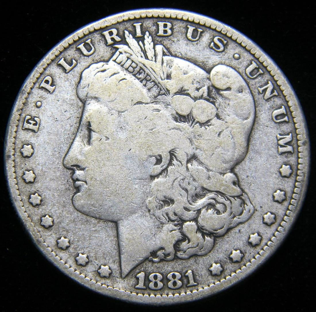 1881 O Morgan Silver Dollar America's Guilded Age Early