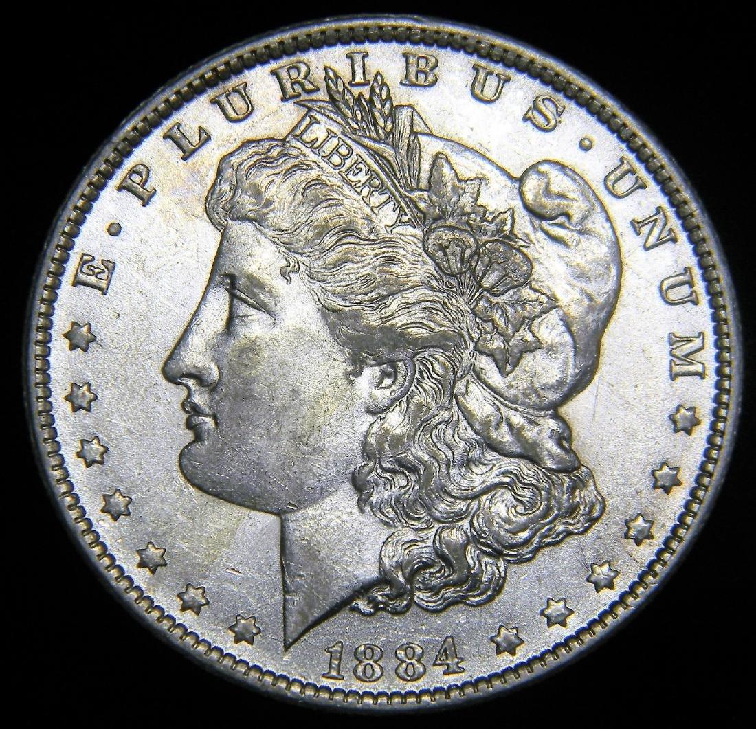 1884 O Morgan Silver Dollar Choice Brilliant Unc.