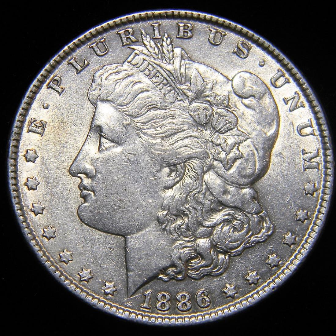 1886 Morgan Silver Dollar, Nice  AU - MS  Details