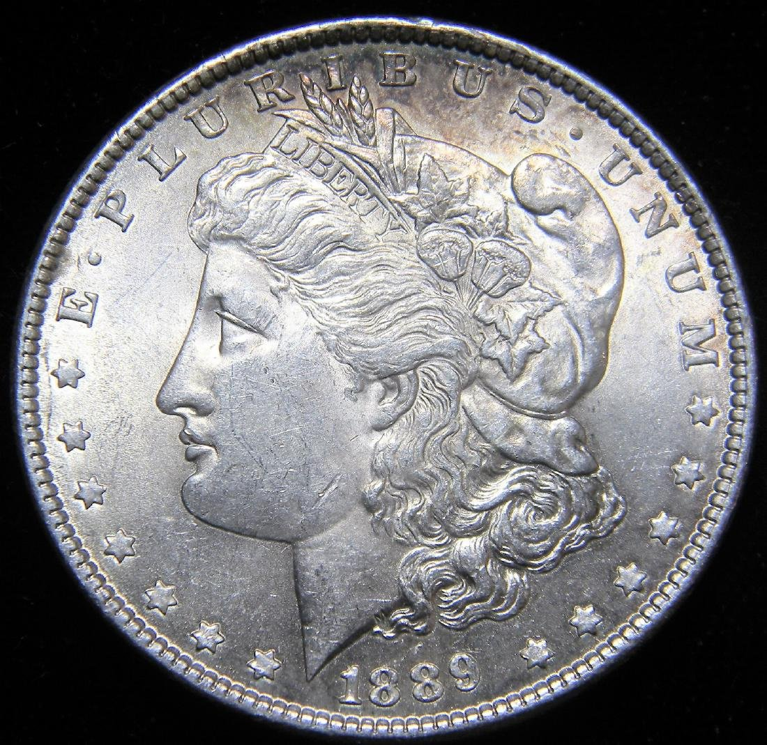 1889 Morgan Silver Dollar Gem Brilliant Uncirculated