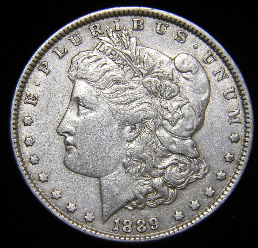 1889 Morgan Silver Dollar America's Glided Age. Nice