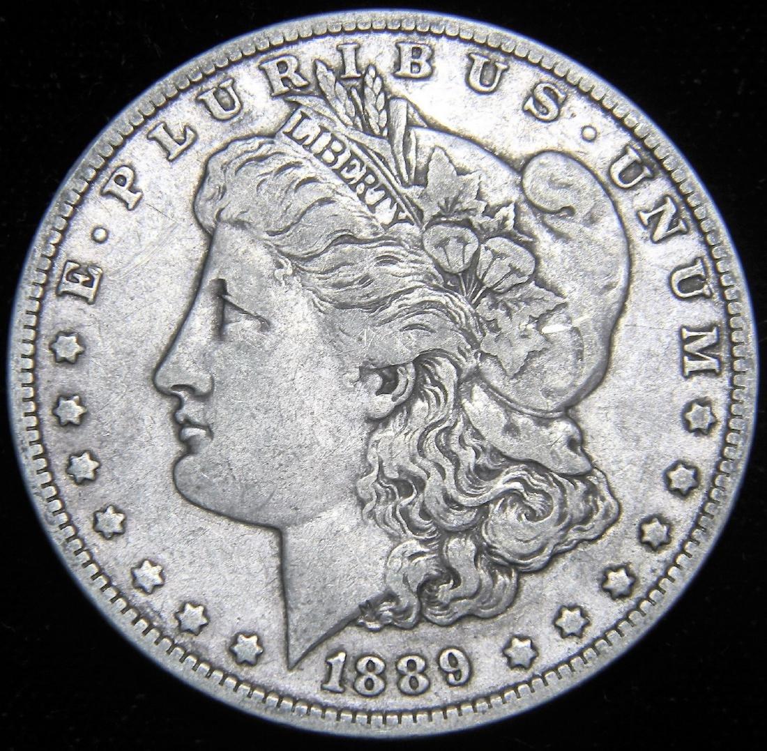1889 O Morgan Silver Dollar New Orleans Mint  VF