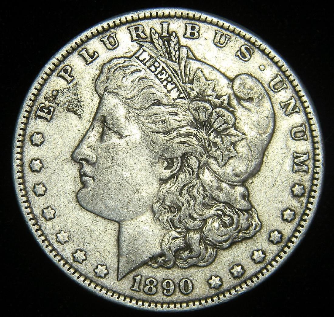 1890 Morgan Silver Dollar America's Gilded Age. Great