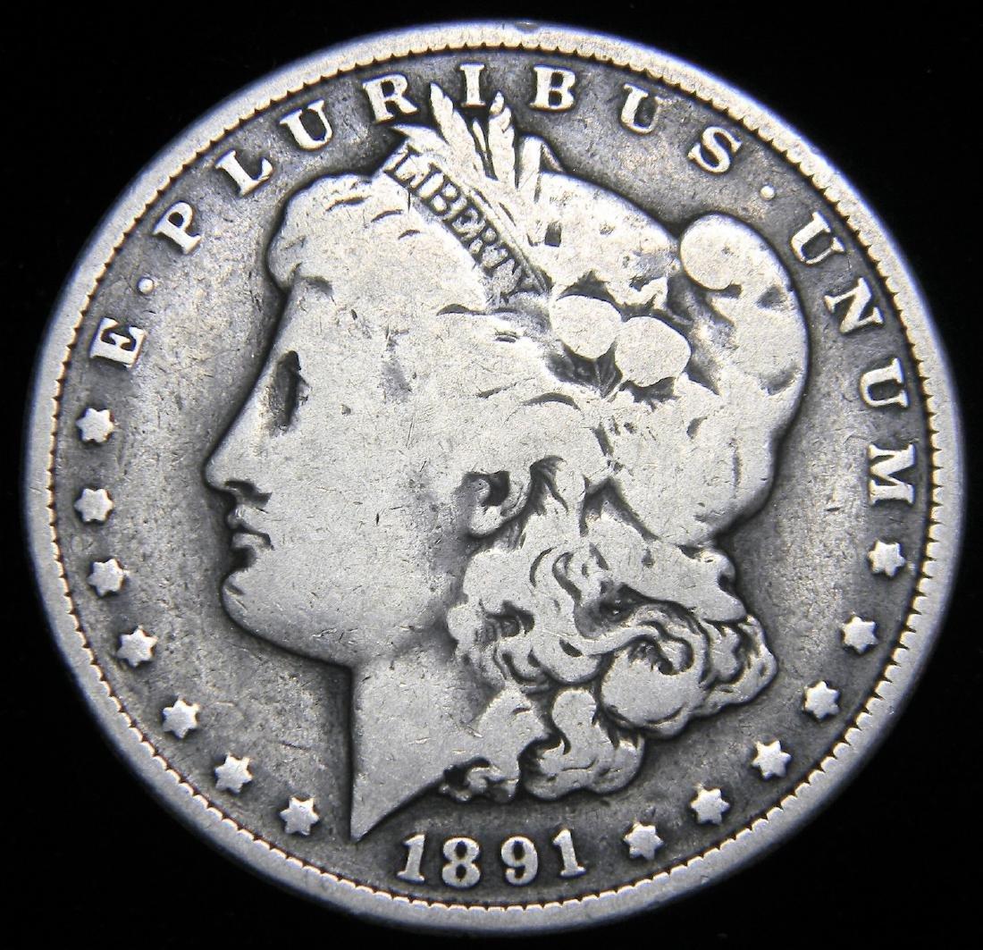 1891 Morgan Silver Dollar America's Gilded Age. Great