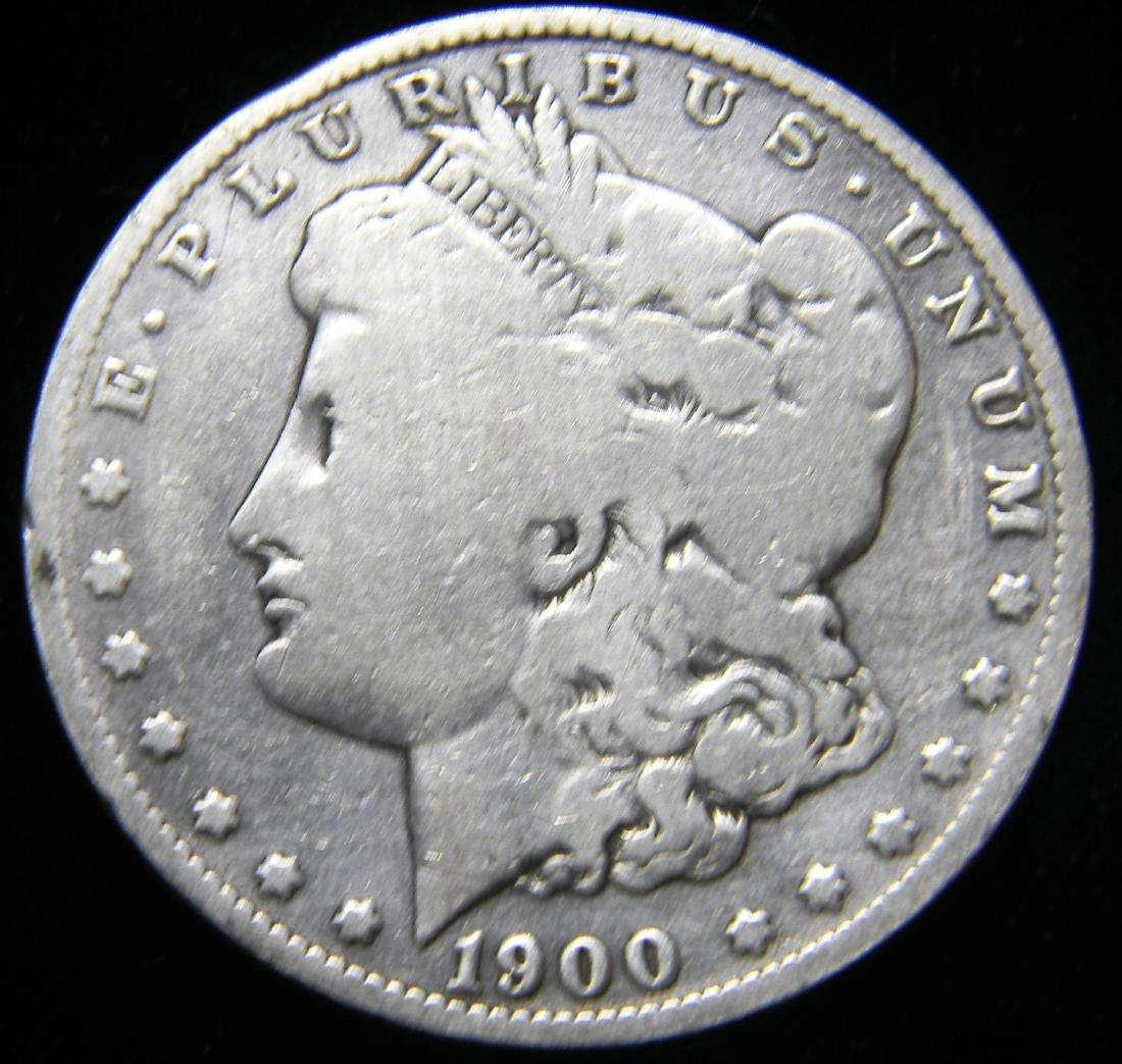 1900 S Morgan Silver Dollar, Great Details San