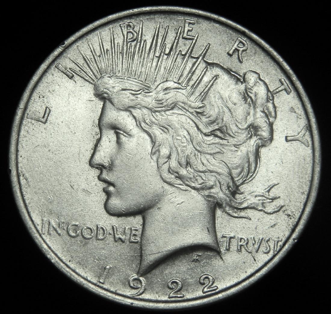 1922 Peace Silver Dollar Choice Brilliant Uncirculated
