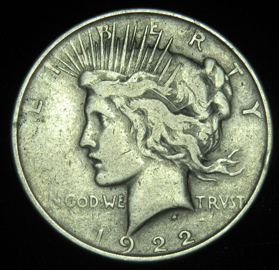 1922 Peace Silver Dollar Low Relief