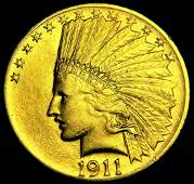 1911 Choice Uncirculated $10 Indian Head Eagle