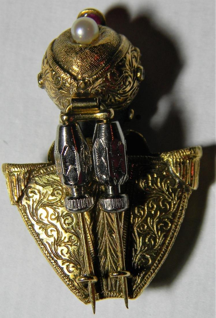 "Rare ""Nardi"" 18K Gold Blackamoore Diamonds Ruby's & - 3"