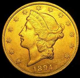 1894  Choice High Grade Liberty $20 gold Double Eagle