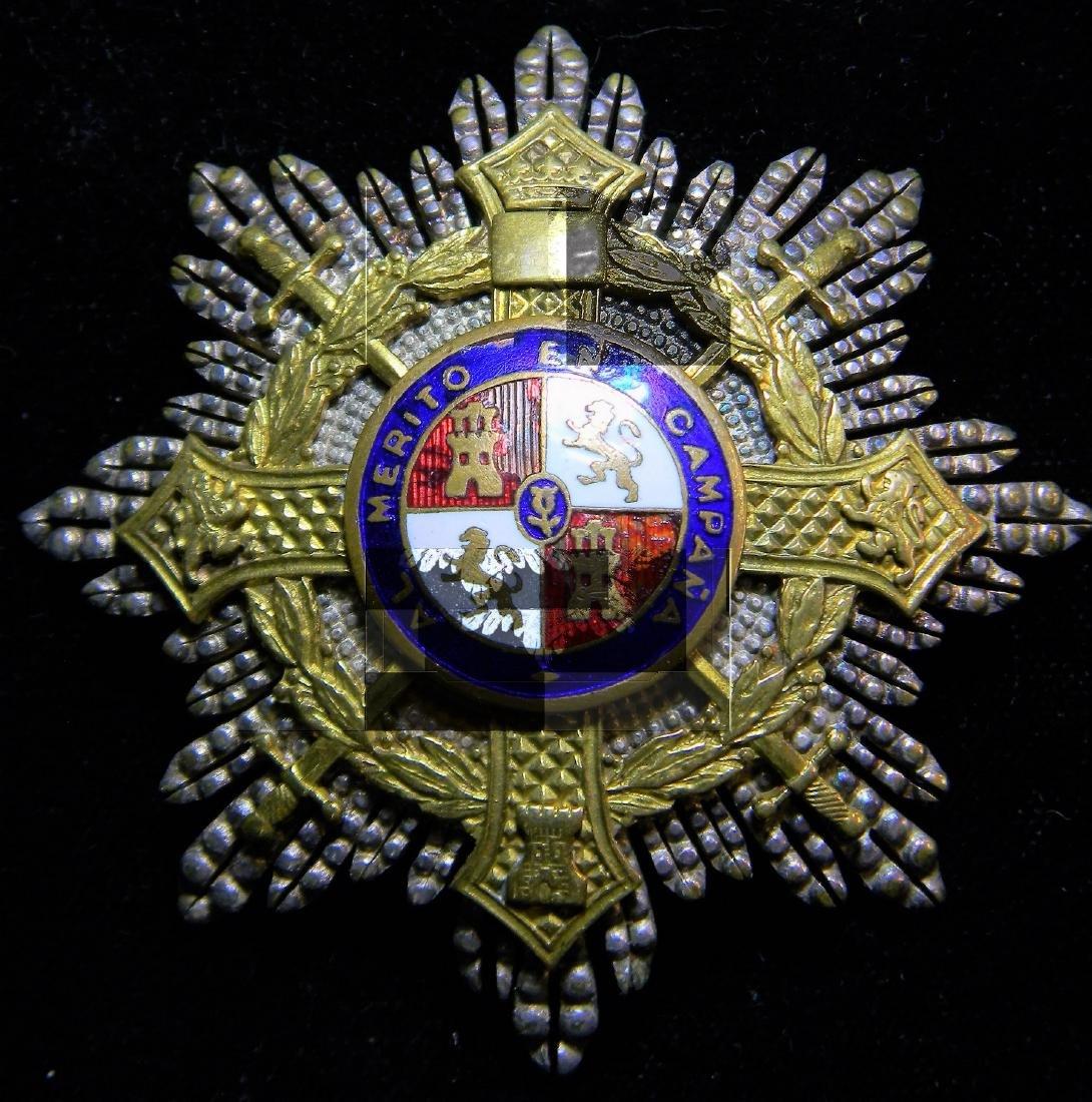 Spanish War Cross, 1st class breast star for general