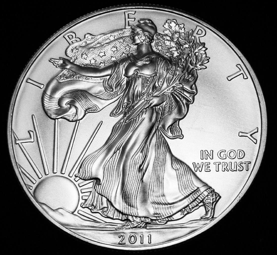 2011 American 1 Oz. 0.999 Fine Silver Eagle Brilliant