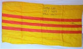 Rare 1967 Battle Stitched South Vietnam Flag