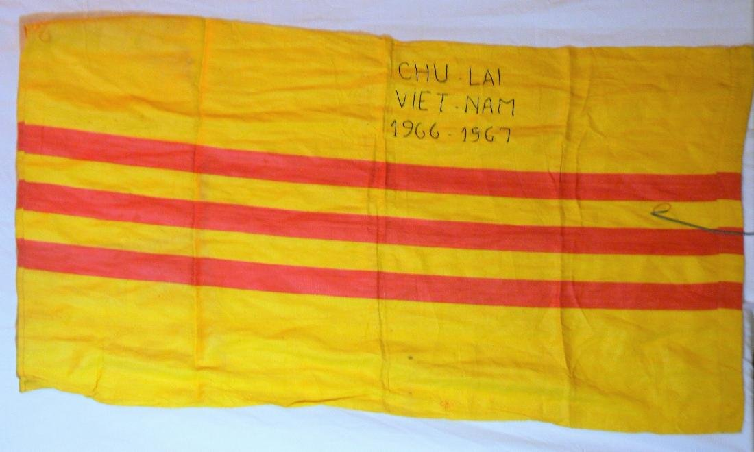 Rare 1967 Battle Stitched South Vietnam Flag