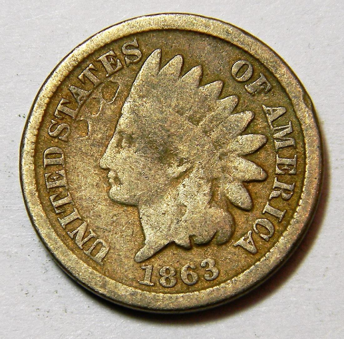 1863 CN - Civil War Year - Indian Head Cent