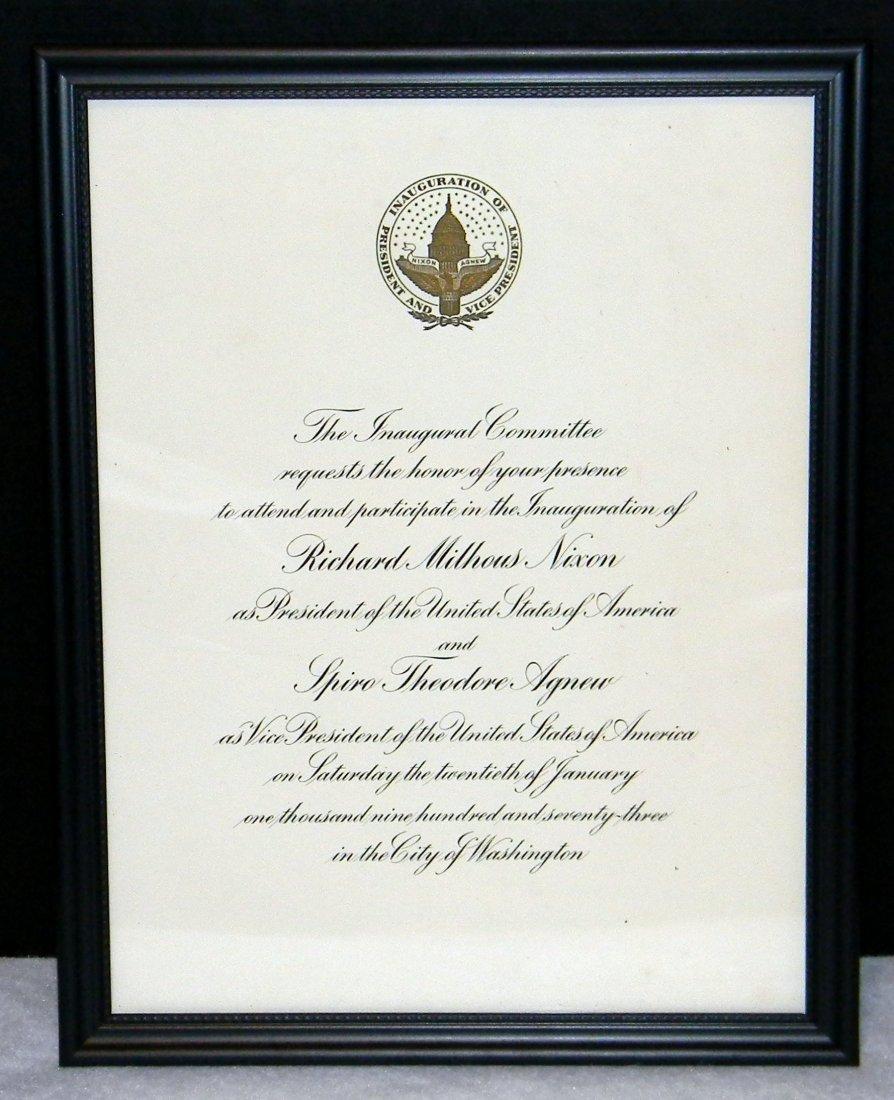 1973 Inaugural Invitation for Richard Nixon