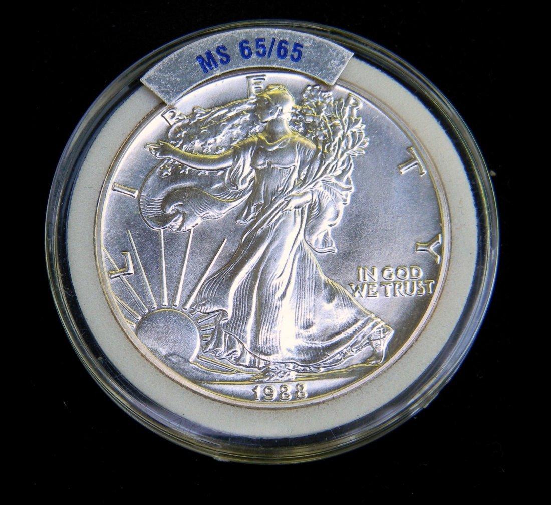 1988 Silver Eagle Gem BU