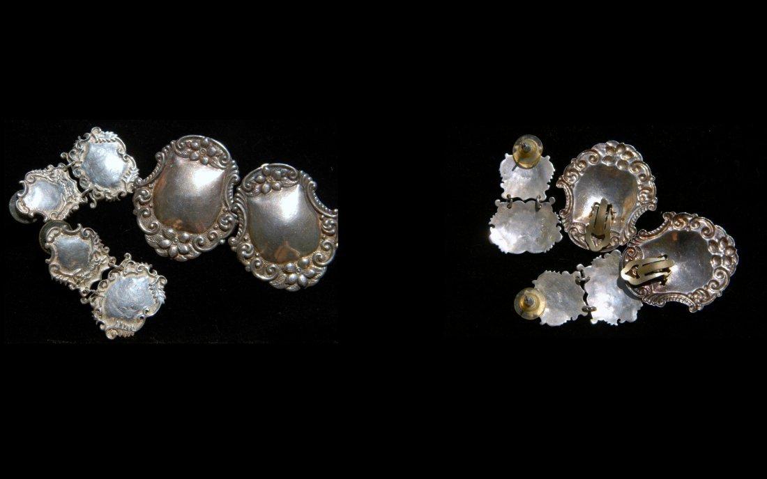 Group Lot of Silver Earrings