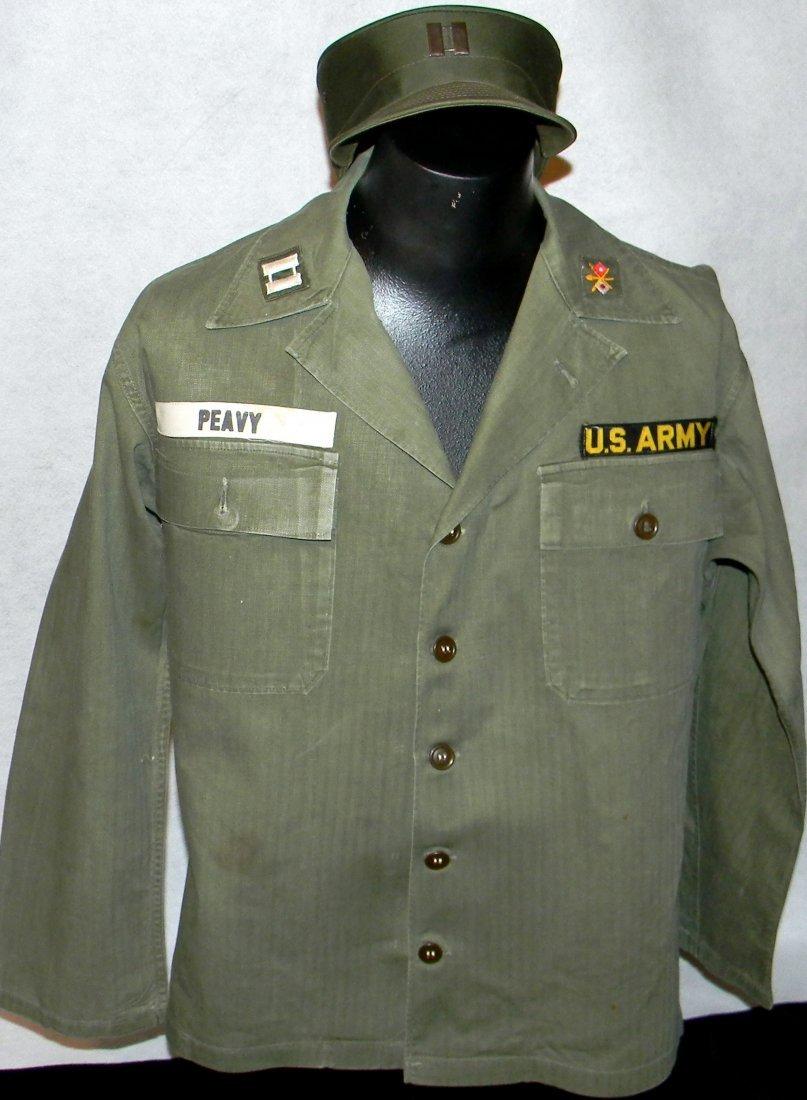 Korean War Era Captain's OD Green Uniform  48th Armor