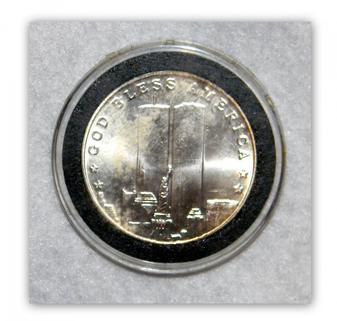 """1 oz.  """"9/11 Land of the Free""""  .999 Silver Round"""