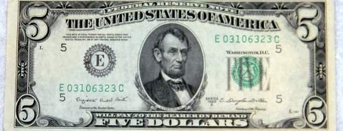 1950 C $5 FRN E5 District Uncirculated