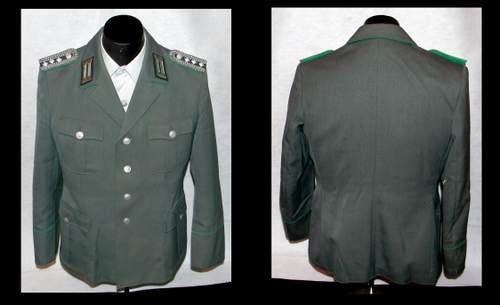 EAST GERMAN BORDER GUARDS CAPITAN WOOL UNIFORM SET