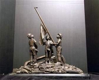 Signed Bronze 9/11 Memorial Statue