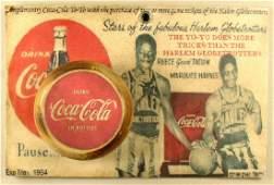 Rare Harlem Globetrotters Coca-Cola Yo-Yo Promotion