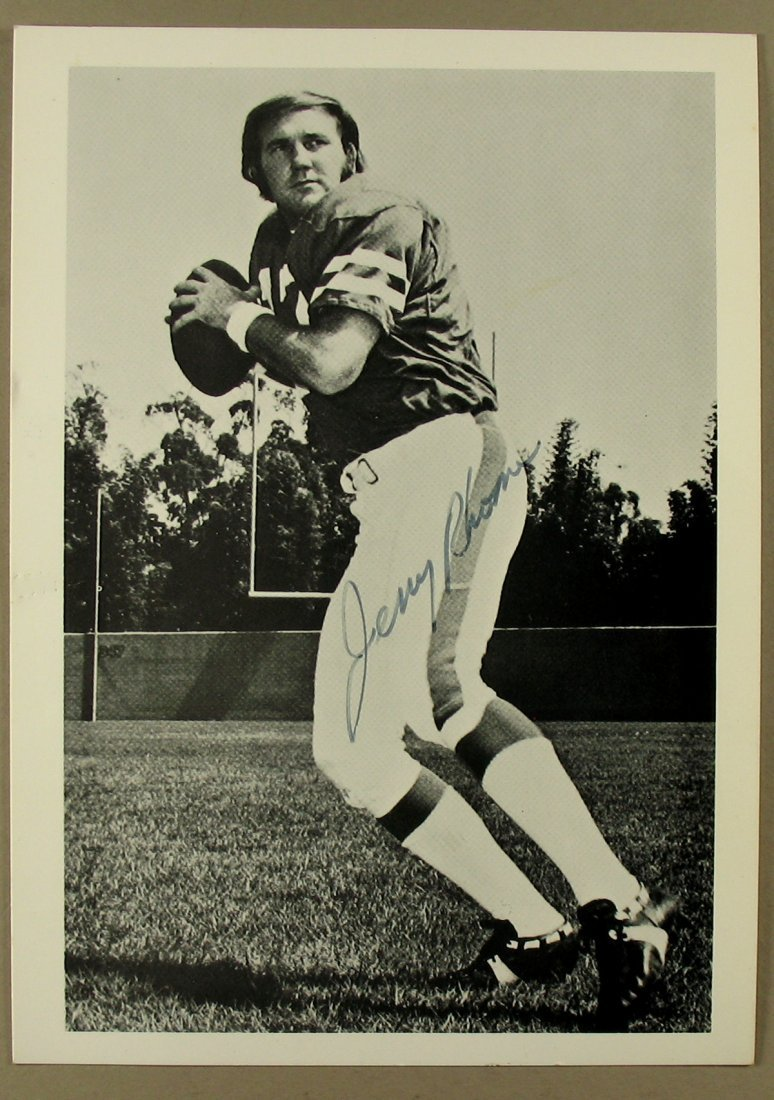 Jerry Rhome Autographed Picture NFL QB Cowboys, Browns