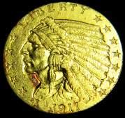 1911 2 1/2 Dollar Gold Indian High Grade