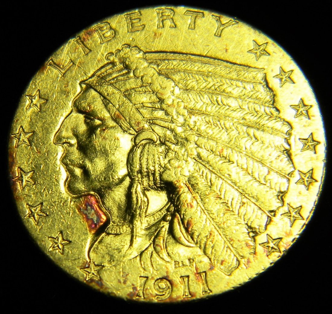 1911 2 1/2 Dollar Gold Indian High Grade