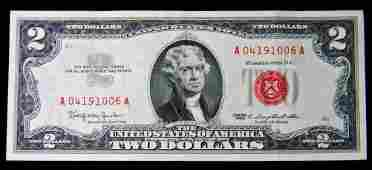 1963 Series $2 Red Seal Legal Tender United States