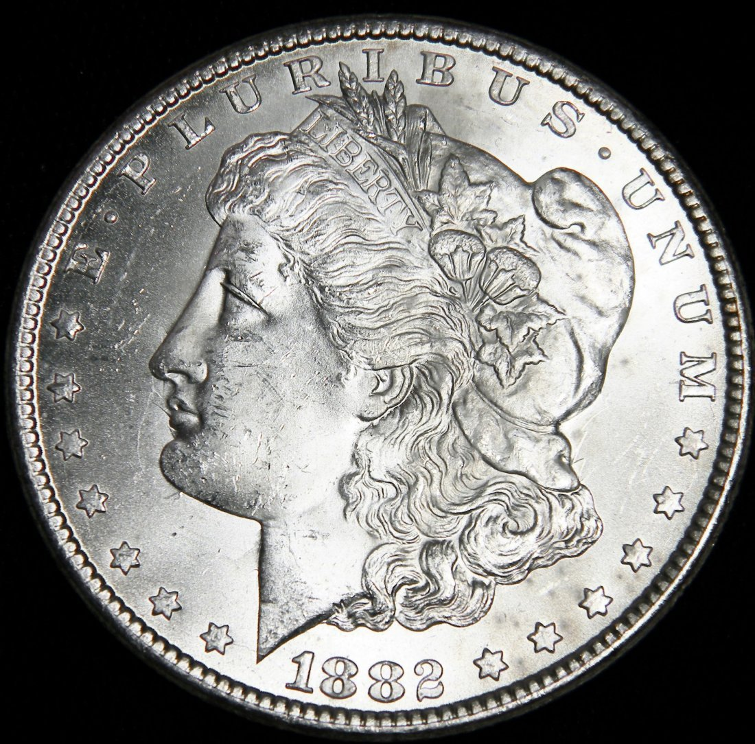 1882 CC Morgan Silver Dollar VAM 3B Bearded Eagle