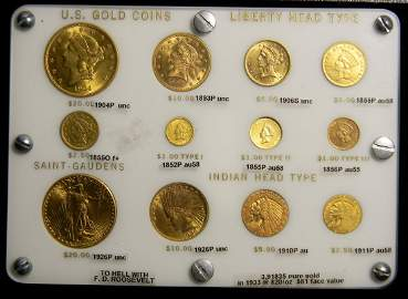 Super RARE US Gold 12 Coin Type Set $1-$20