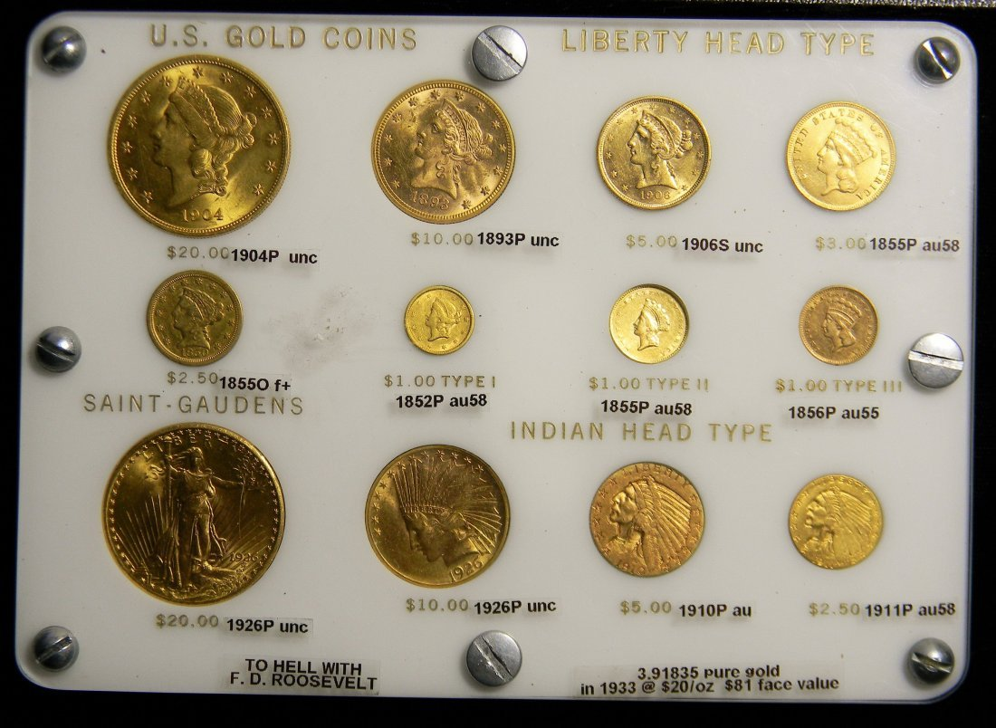 Super RARE US Gold 12 Coin Type Set $1-$20