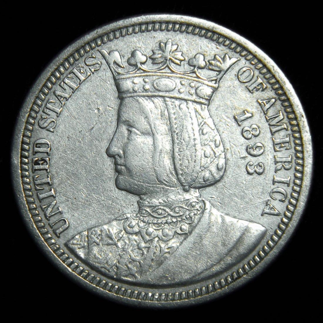 "1893 ""RARE"" Isabella Quarter, Great Condition & Details"