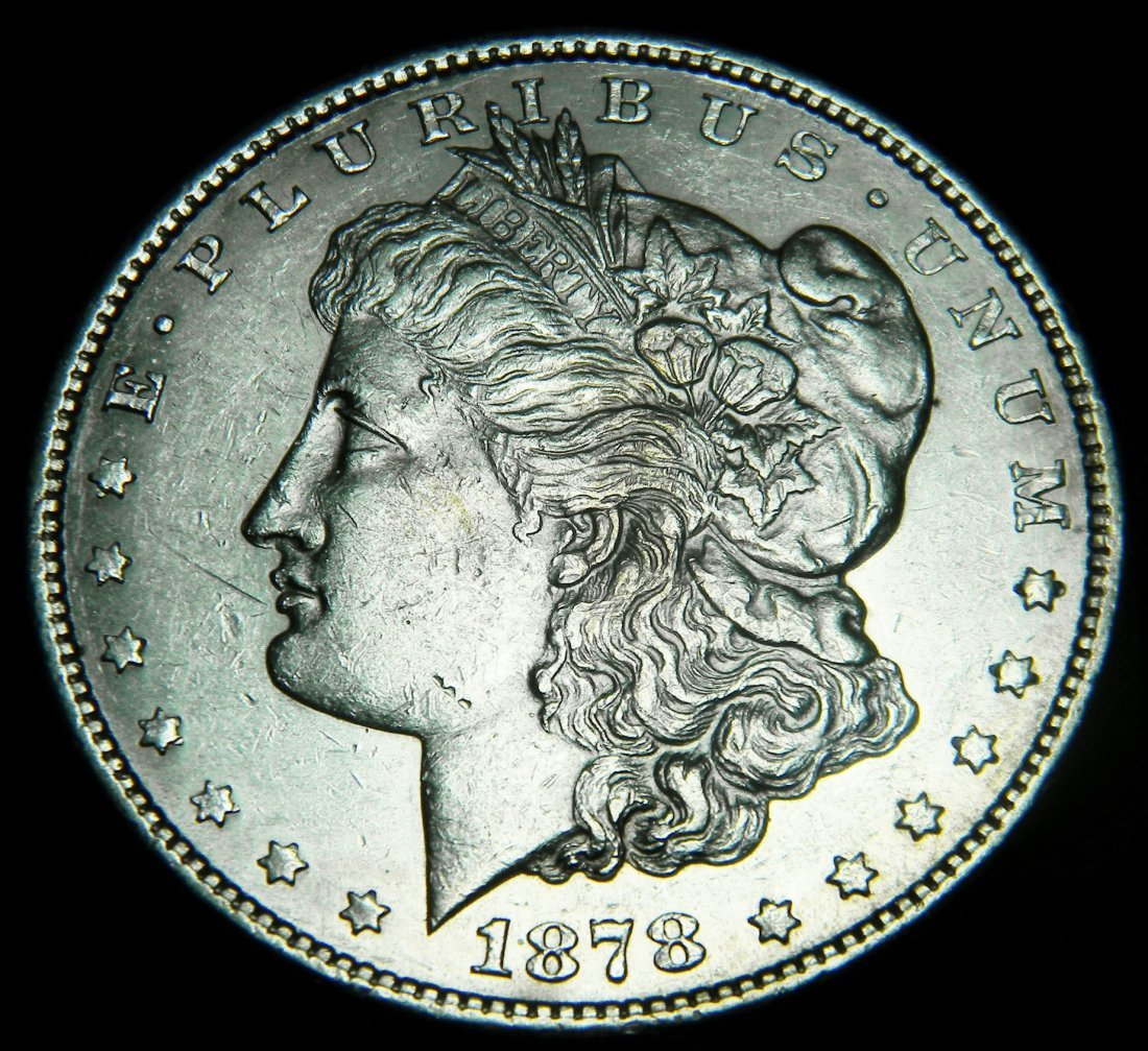 1878-S Morgan Silver Dollar, First Year, About