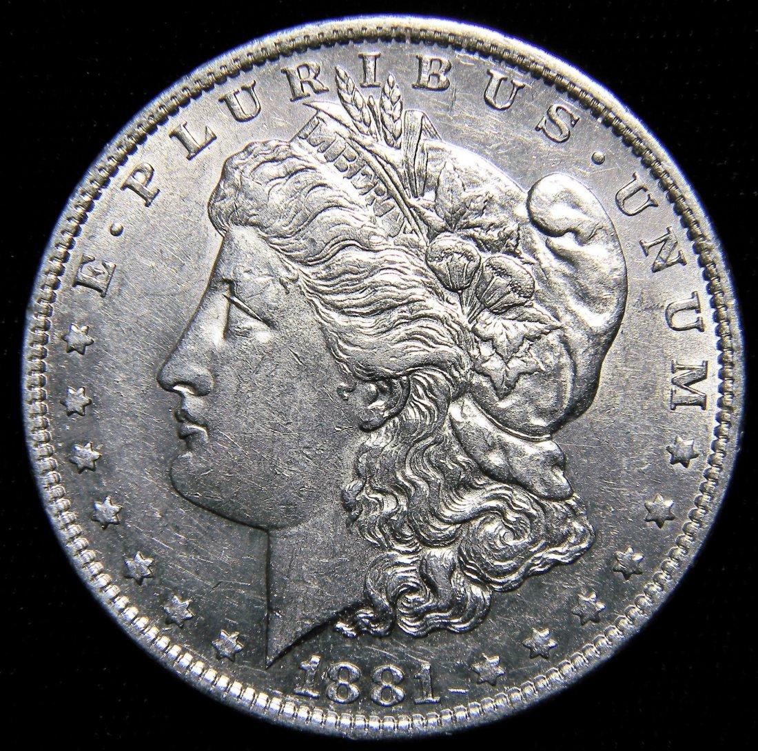 1881-O Morgan Silver Dollar, Extremely Fine + Details