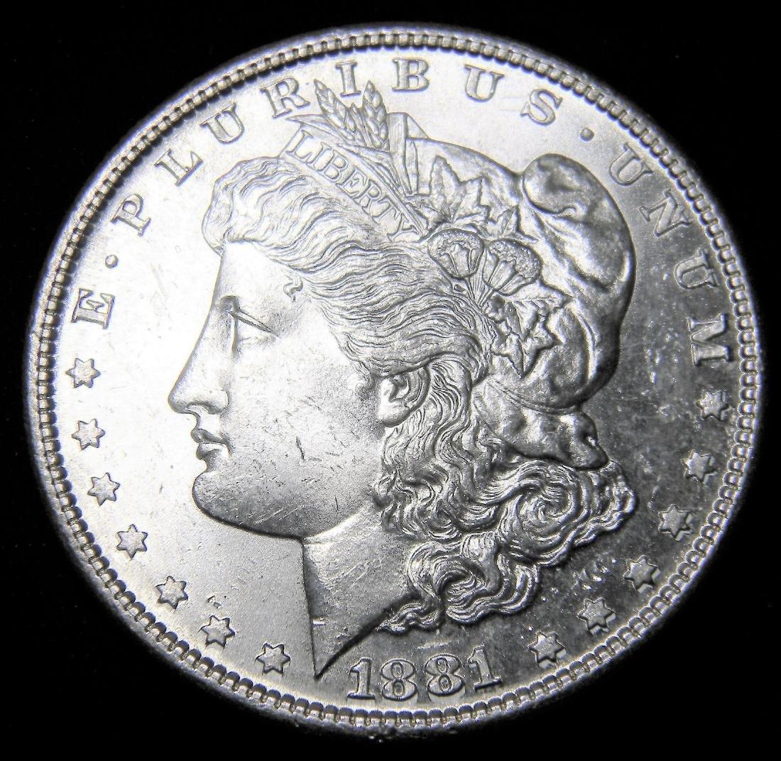 1881-S Morgan Silver Dollar, Brilliant Uncirculated