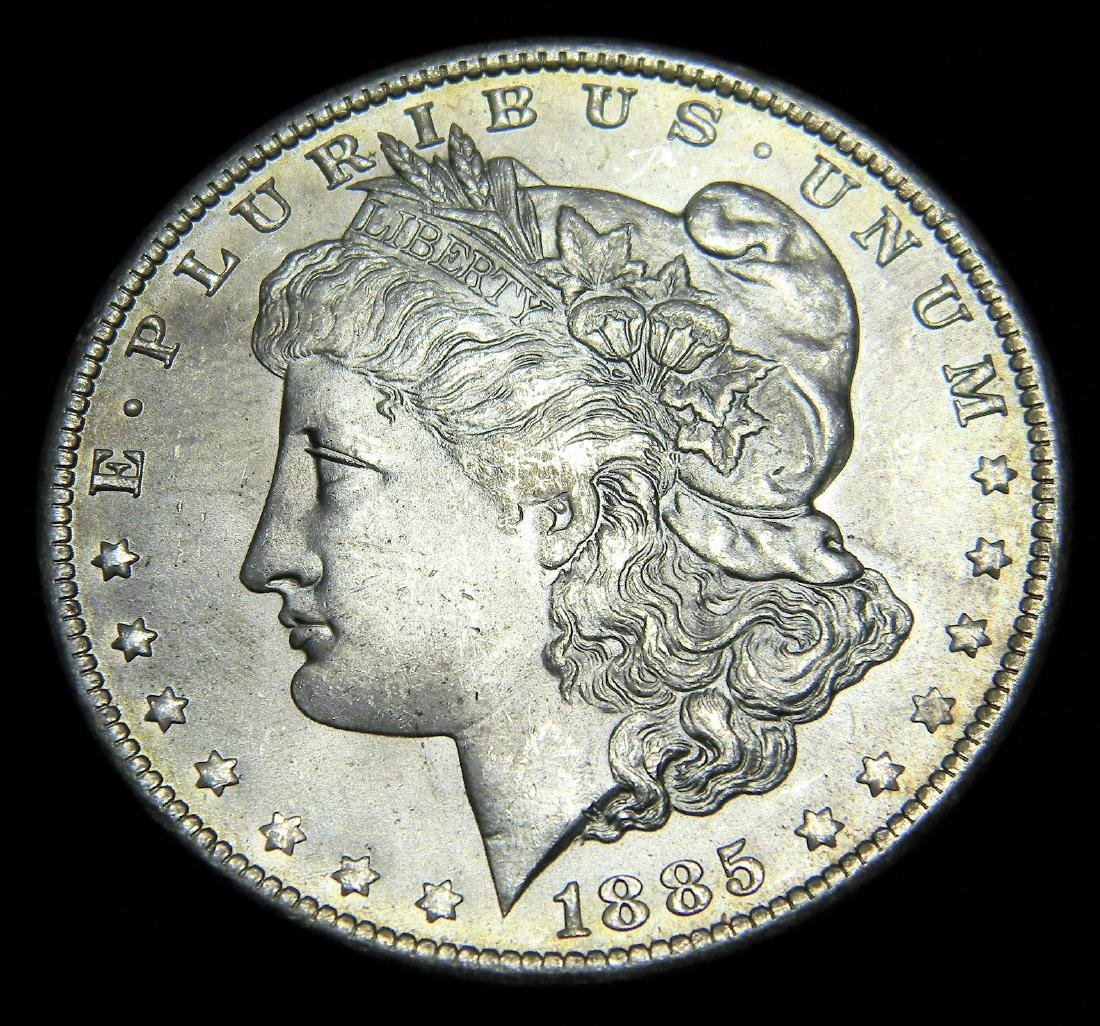 1885-O Morgan Silver Dollar, Brilliant Uncirculated