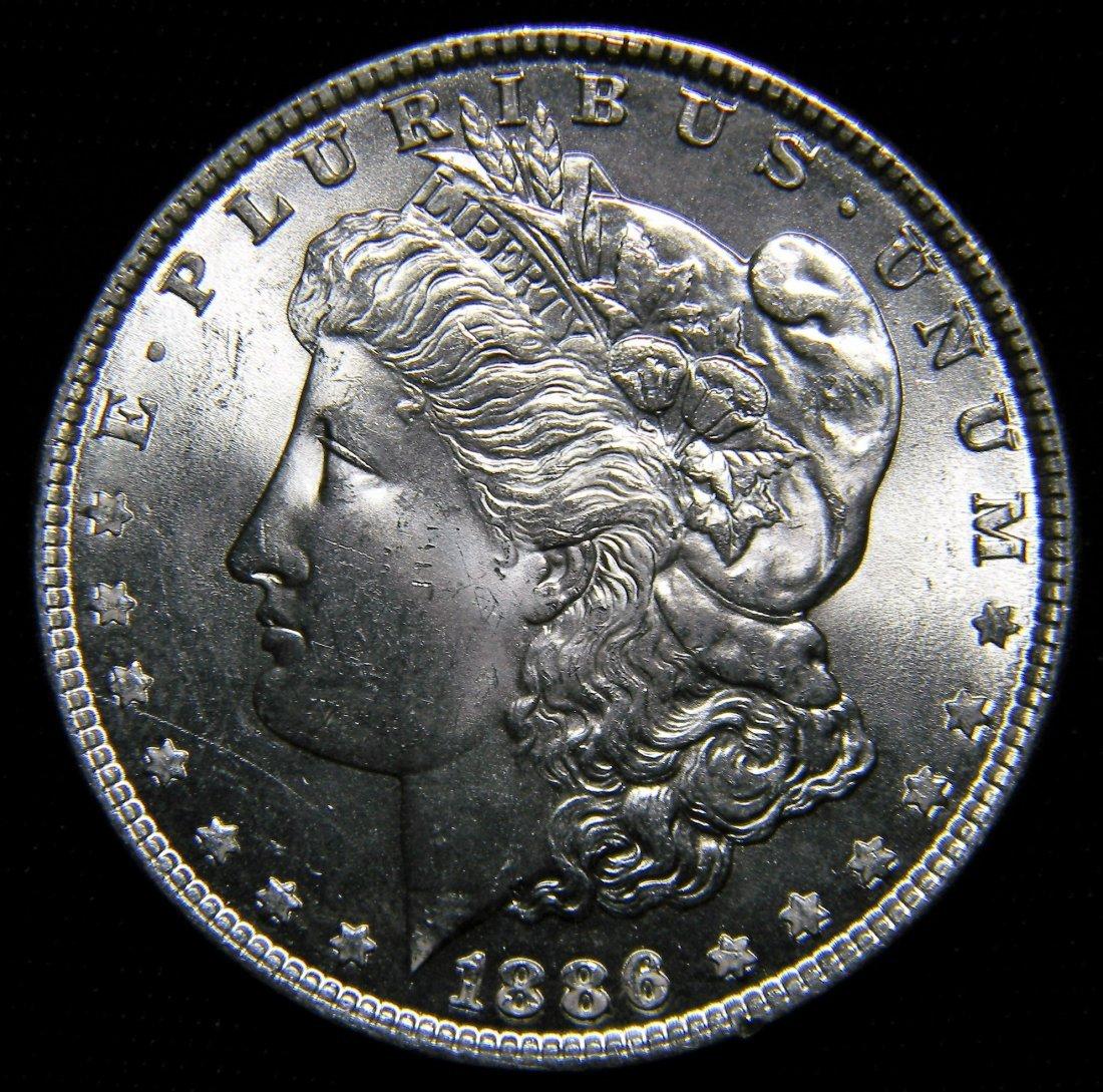 "1886 ""Error Die Clashes"" Morgan Silver Dollar,"