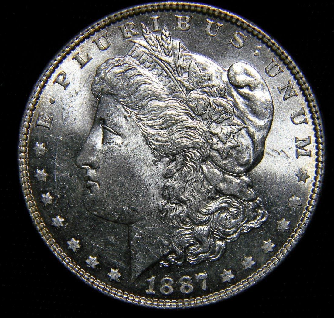 1887 Morgan Silver Dollar, Brilliant Uncirculated