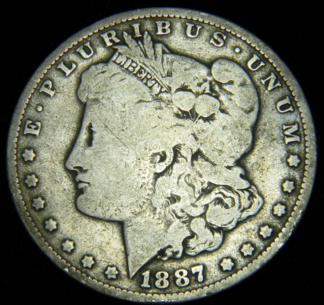 1887-O Morgan Silver Dollar, Very Good Details
