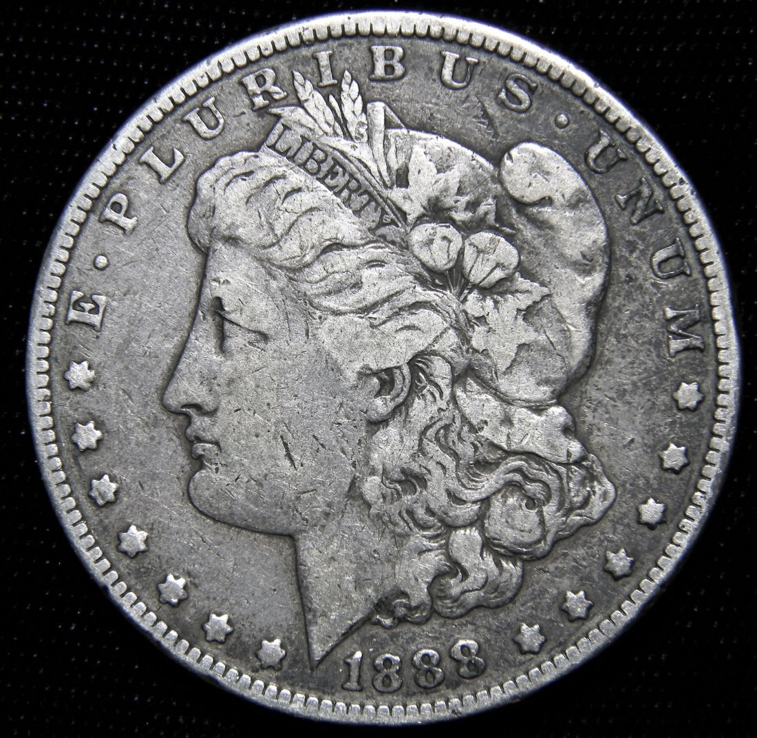 1888 Morgan Silver Dollar, Fine Details