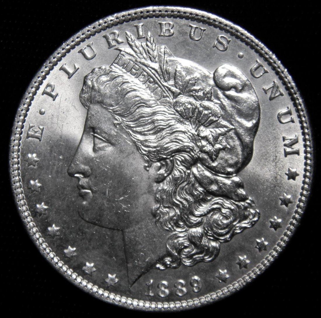 "1889 ""Error Die-Crack Obv"" Morgan Silver Dollar,"