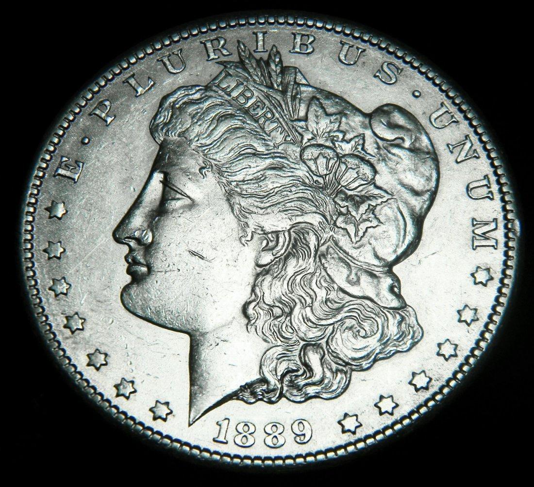 1889-S Morgan Silver Dollar, Extremely Fine / AU