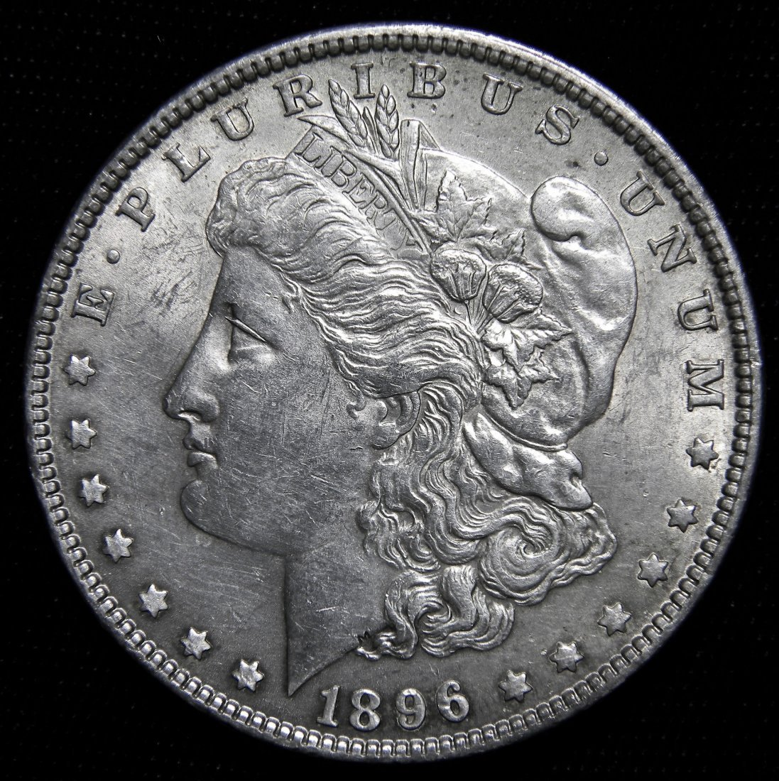 1896 Morgan Silver Dollar, About Uncirculated Details