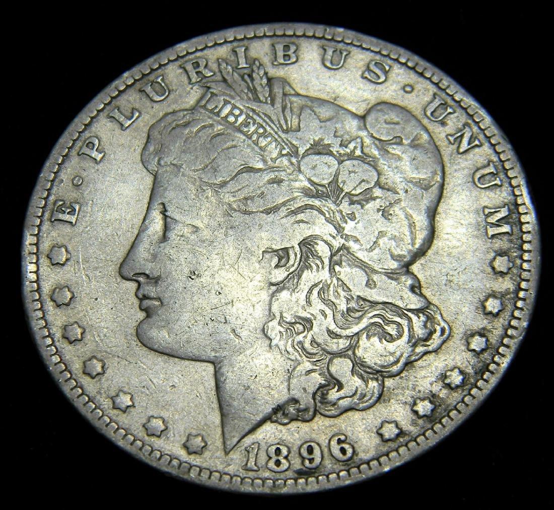 1896-O Morgan Silver Dollar, Very Good Details